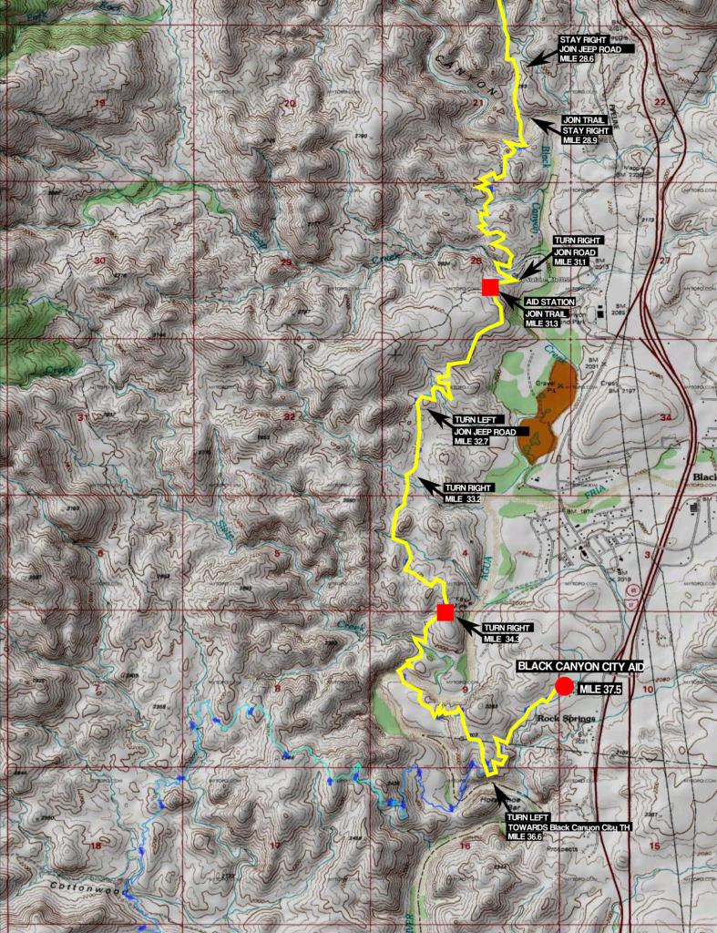 100K Map Part 4 - Soap Creek to Black Canyon City