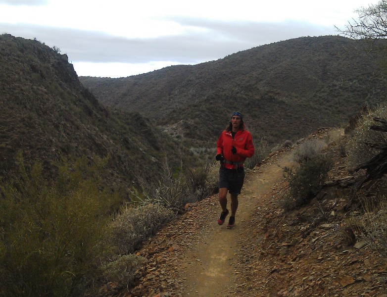 The author & race director Jamil Coury scouting out the Black Canyon Trail