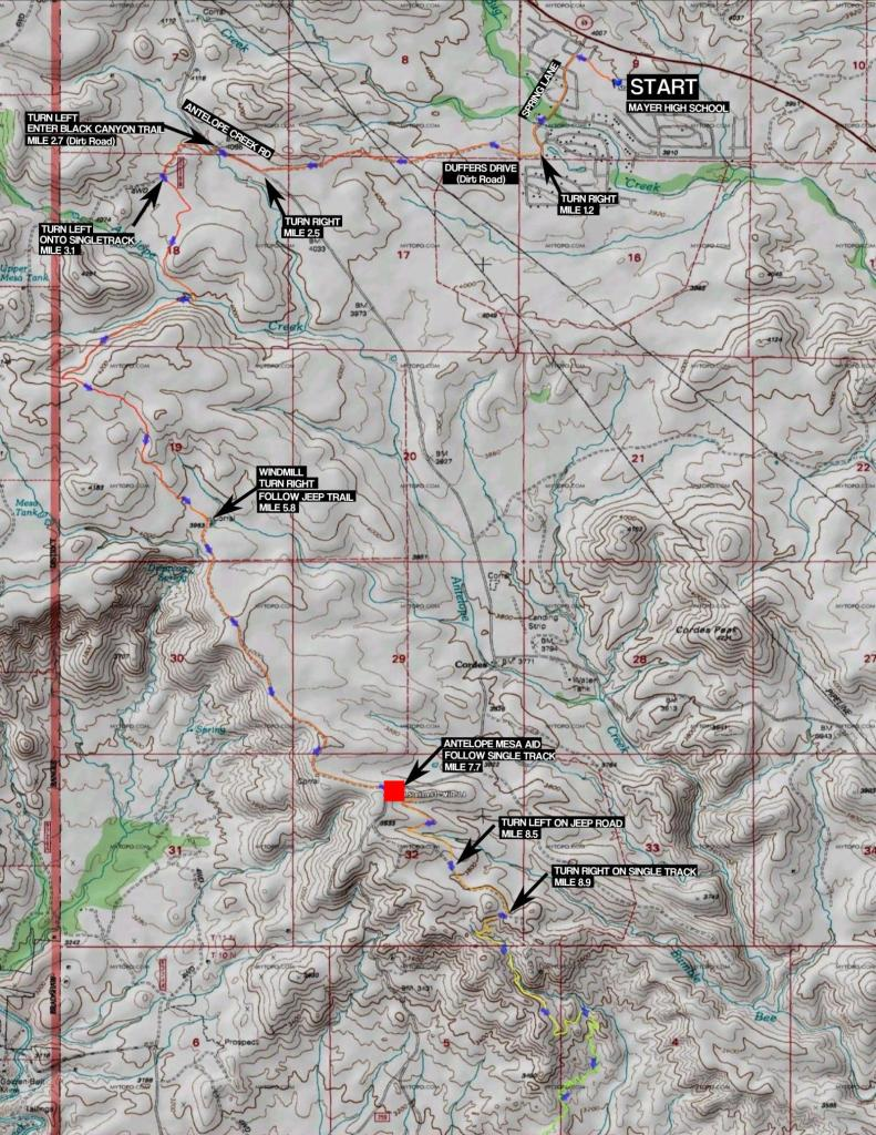 100K Map Part 1 - Start to Antelope Mesa